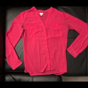 Dynamite - Magenta long Sleeve Blouse, buttonup